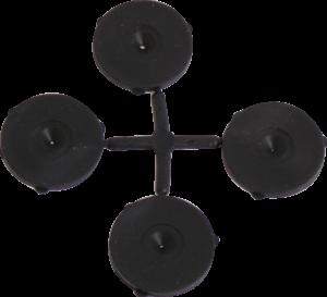 K036 Black Rubber Washers