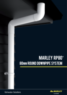 RP80 80mm Round Downpipe System